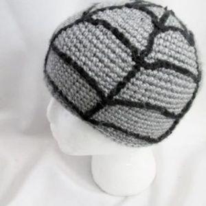 Handmade Knit SPIDERWEB SPIDER WEB Beanie Cap